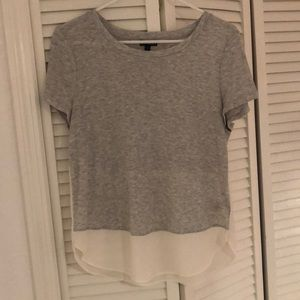 EXPRESS grey and white t-shirt
